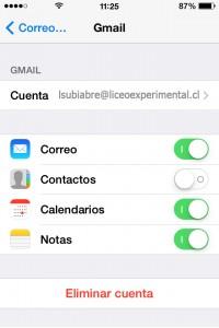 Seleccionar que servicios quieres sincronizar (Correo, Calendario, Notas). - See more at: http://escuelaiphone.net/2013/12/12/configurar-gmail-en-la-aplicacion-mail-de-apple/#sthash.tWPRqSc8.dpuf